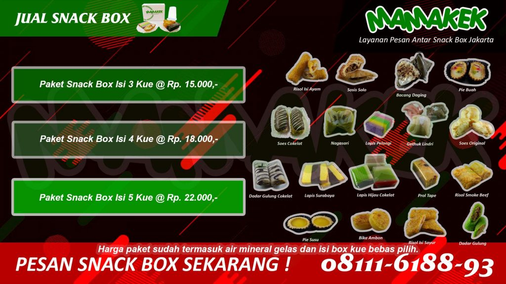 Jual Snack Box -  Mamakek - Kue Fresh Dan Enak - Antar Makanan Tepat Waktu