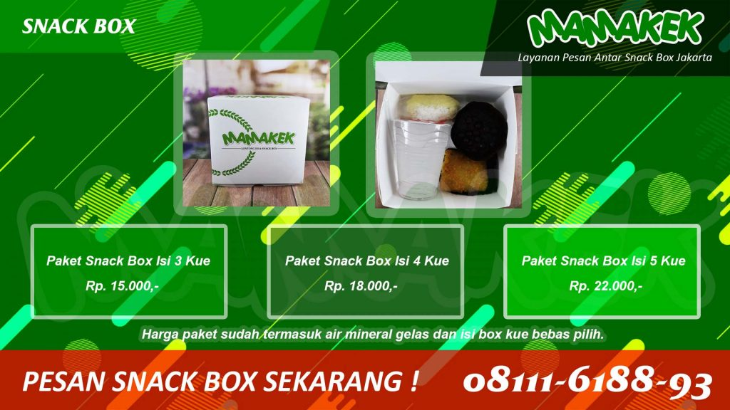 Snack Box - Mamakek - Antar Tepat Waktu Kue Bebas Pilih